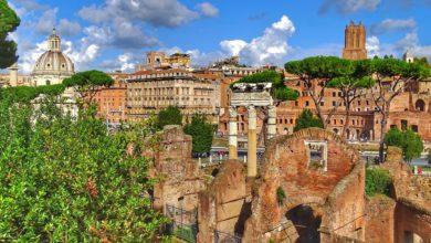 vue sur rome depuis le forum romain